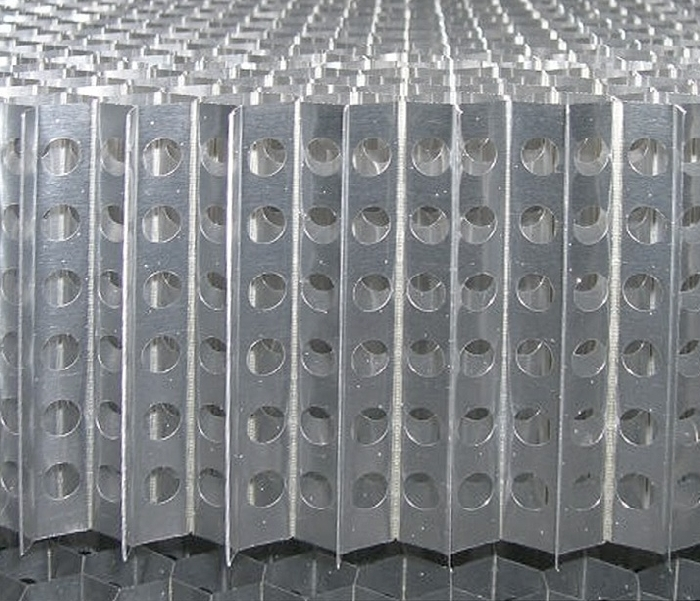Drilled aluminium honeycomb
